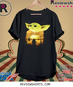 Baby Yoda Sunset Tee Shirt