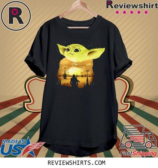 Baby Yoda Sunset Tee Shirt