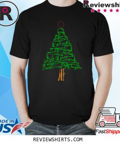 Guns Christmas Tree Funny T-Shirt