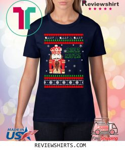 Hand Engraved Nutcracker DEEZ NUTZ Christmas T-Shirt