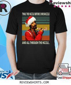 Snop Dogg Christmas Vintage Black T-Shirt