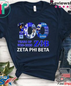 100 Years Of 1920 2020 Zeta Phi Beta Offcial T-Shirts