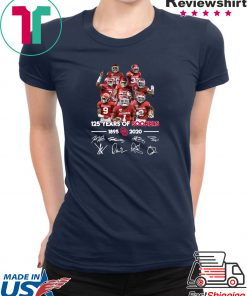 125 Years of Sooners 1895 2020 Players signatures Gift T-Shirt