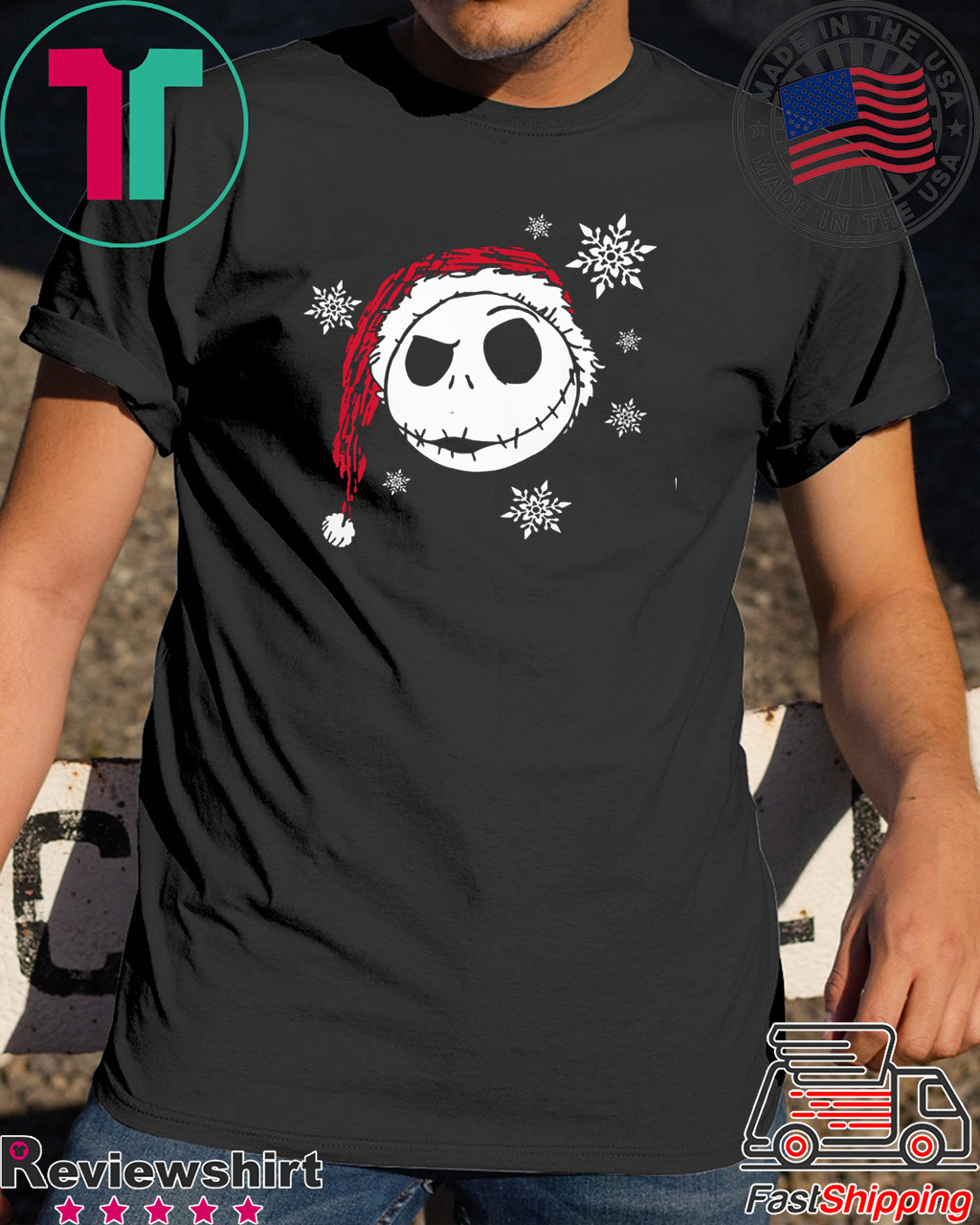 Cool Nightmare Before Christmas Gifts: Nightmare Before Christmas Snowflake Tee Shirt