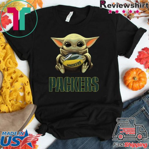Baby Yoda Hug Green Bay Packers Gift