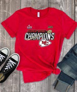 Champions Kansas City Chiefs Super Bowl LIV Official T-Shirts
