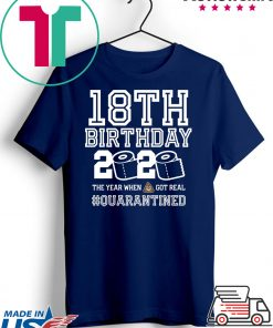 18th Birthday, Quarantine Shirt, The One Where I Was Quarantined 2020 T-Shirt