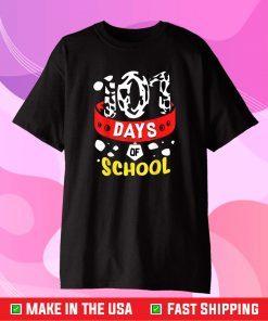 101 School Days Tshirt Dalmatian Dog 100th Sayings Gift T Shirt