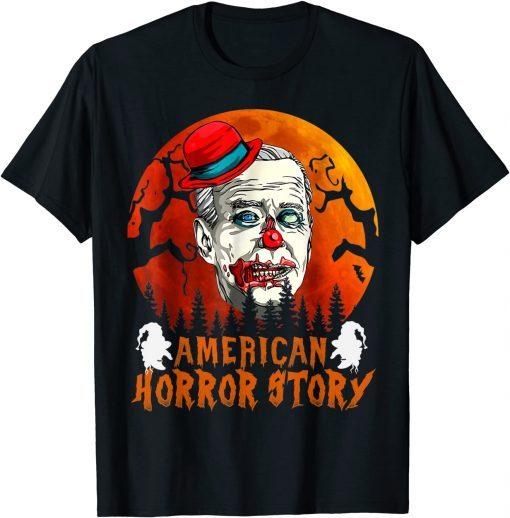 Funny Biden Horror American Zombie Story Halloween Retro Vintage T-Shirt